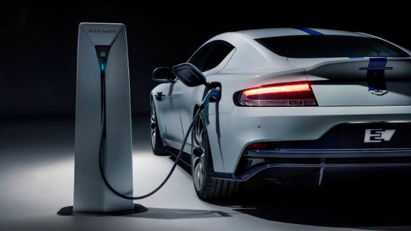 The Aston Martin Rapide E replaces a V12 engine with batteries and electric motors.