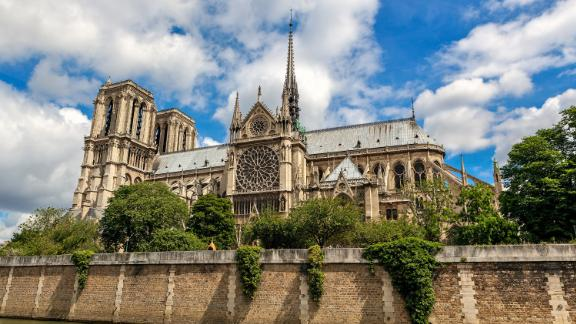 """<strong>Notre Dame:</strong> Notre Dame -- meaning """"Our Lady"""" in French -- is a Catholic cathedral in the heart of Paris and one of the world's most celebrated buildings."""