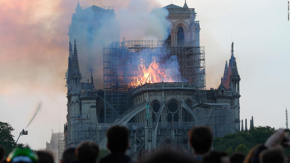 The fire at Notre Dame Cathedral in Paris is under control, officials say