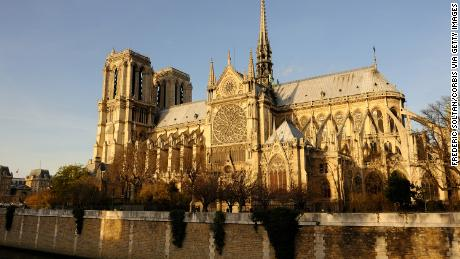 The Notre Dame cathedral in Paris as seen on December 20, 2015.