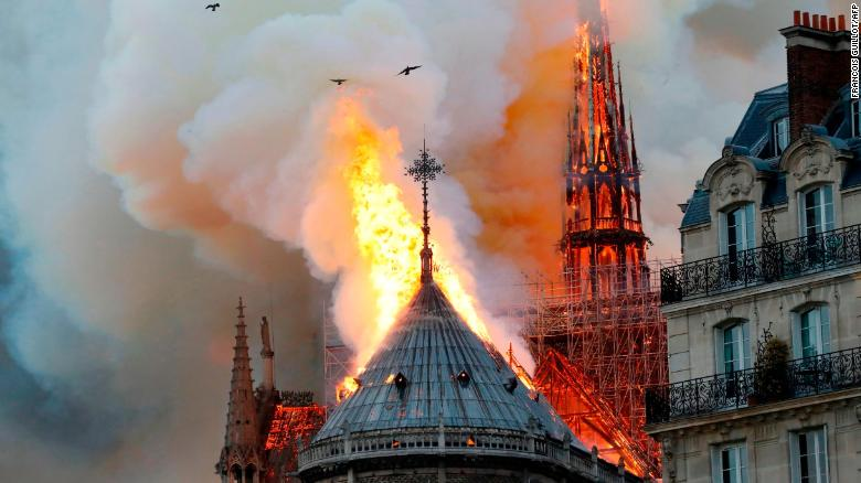 Image result for Paris prosecutors investigating if short-circuit caused Notre Dame fire