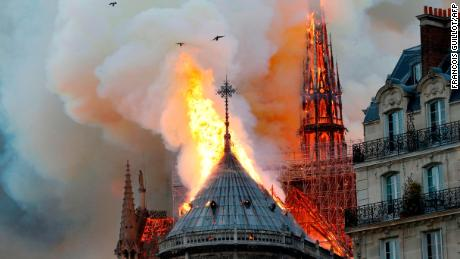 Witness: We watched 'in silent shock' as Notre Dame burned