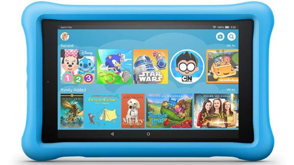 """<a href=""""https://amzn.to/2Ddd1AG"""" target=""""_blank"""" target=""""_blank""""><strong>Fire HD 8 Kids Edition Tablet ($99.99, originally $129.99; amazon.com)</strong></a>"""