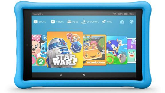 """<a href=""""https://amzn.to/2UDdLKm"""" target=""""_blank"""" target=""""_blank""""><strong>Fire HD 10 Kids Edition Tablet ($159.99, originally $199.99; amazon.com)</strong></a>"""