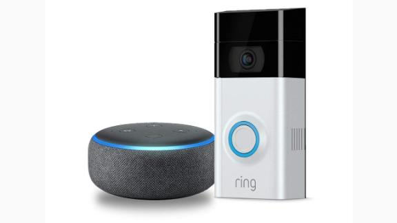 """<a href=""""https://amzn.to/2Dfl689"""" target=""""_blank"""" target=""""_blank""""><strong>Ring Video Doorbell 2 with Echo Dot ($169.99, originally $248.99; amazon.com)</strong></a>"""