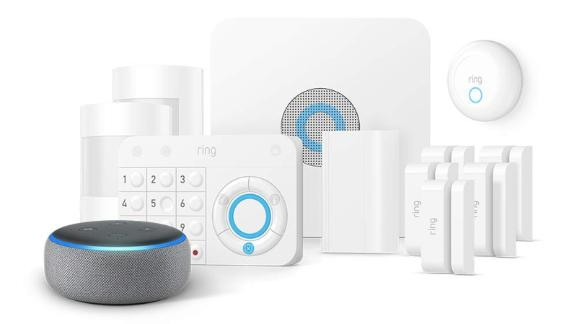 """<a href=""""https://amzn.to/2XiLhlZ"""" target=""""_blank"""" target=""""_blank""""><strong>Ring Alarm 11 Piece Kit with Echo Dot ($249.00, originally $299.00; amazon.com)</strong></a>"""