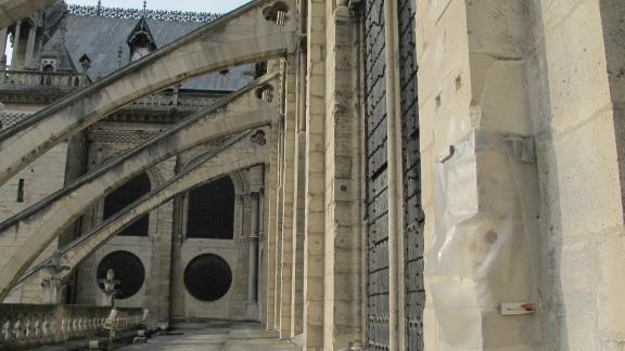 Notre Dame's famous flying buttresses.