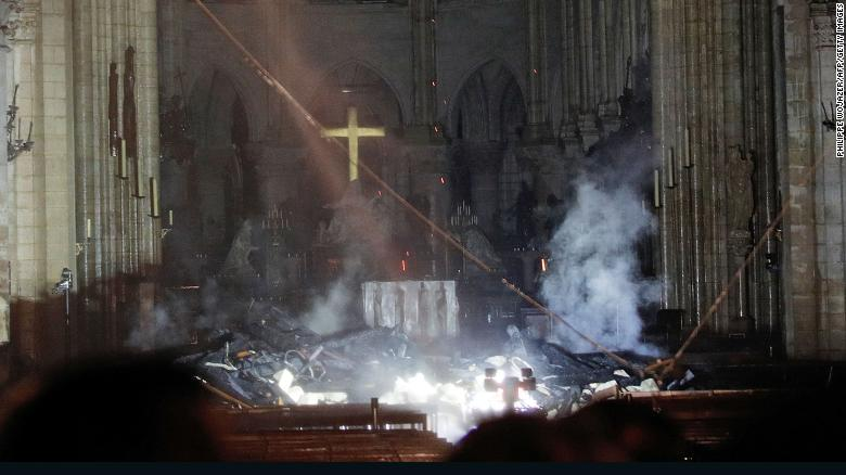 Images Show Damage Inside Notre Dame Cathedral