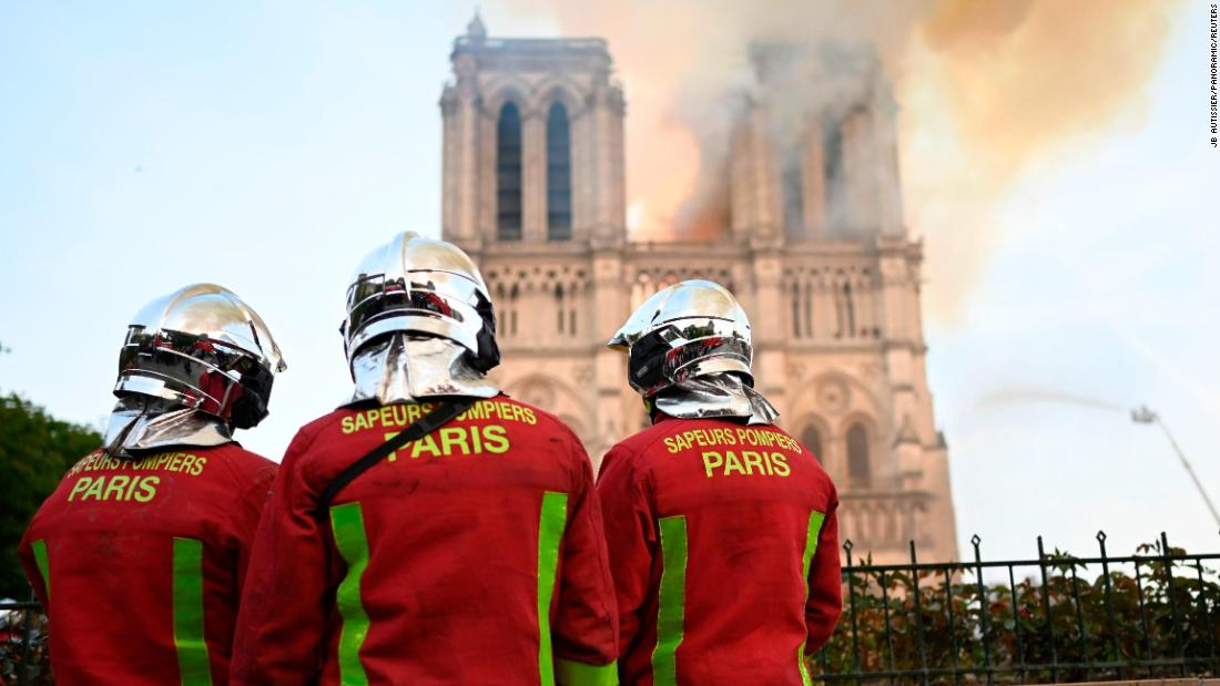 Firefighters worried the two towers would be destroyed.