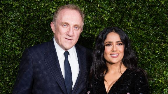 LONDON, ENGLAND - FEBRUARY 09: (L-R) Francois-Henri Pinault and Salma Hayek attend the Charles Finch & Chanel pre-BAFTA's dinner at Loulou's on February 09, 2019 in London, England. (Photo by Jeff Spicer/Getty Images)