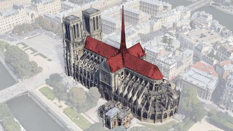 Notre Dame: Aerial animation shows the damage caused by fire