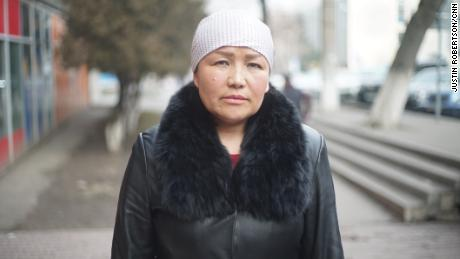 Formerly Xinjiang camp teacher Sayragul Sauytbay who fled to Almaty, Kazakhstan, to escape from the Chinese government.