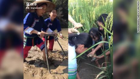 Records from Gaibao village Kuaishou page where they receive money through their daily videos