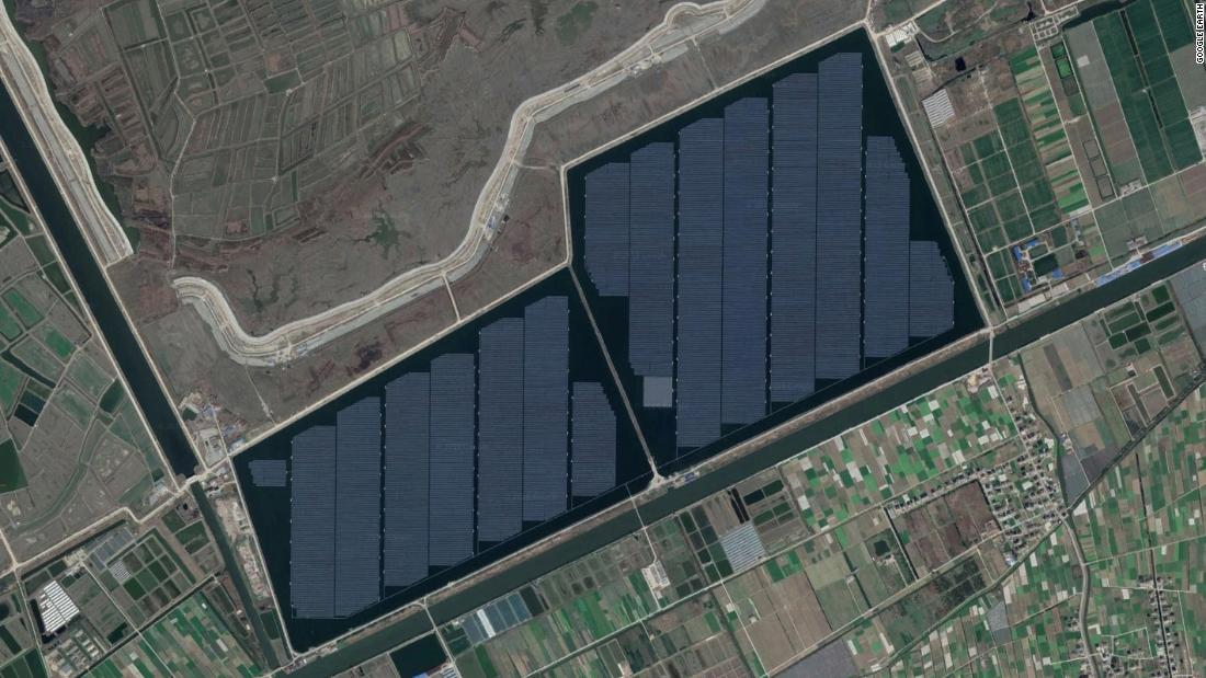 "Built on top of a fishery in Cixi, China, the Hangzhou Fengling Solar-Fish Farm was completed in 2017 at a reported cost of <a href=""http://holdfast.global/wp-content/uploads/2018/05/IEEFA_Global-Solar-Report_20May2018-1.pdf"" target=""_blank"">$262 million</a>. Spread across 300 hectares, the farm has a capacity of 200 megawatts."