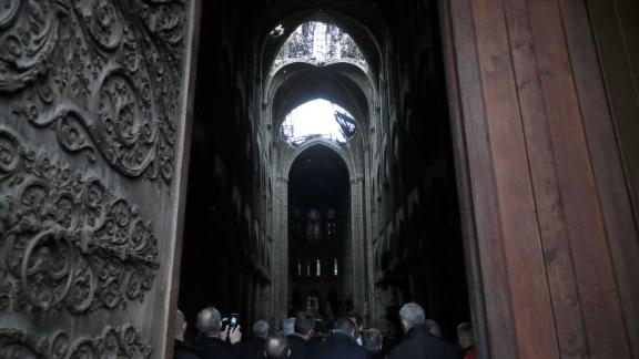 An interior view of the cathedral on Tuesday.