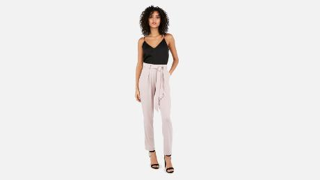 62cf3c2db46 ... these slip-on jersey pants are so soft and relaxed that they feel like  sweatpants. But thanks to their tapered silhouette and sash tie
