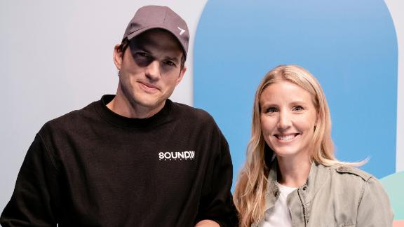 Ashton Kutcher and Julie Cordua, Thorn CEO