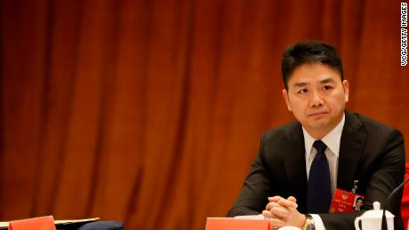 Richard Liu at a panel discussion in Beijing last year. The billionaire CEO of JD.com is accused of rape in a new lawsuit filed in the United States.