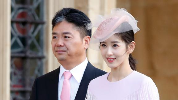 """Richard Liu and his wife, Zhang Zetian. Liu later apologized to his wife, saying his actions """"have hurt my family greatly."""""""