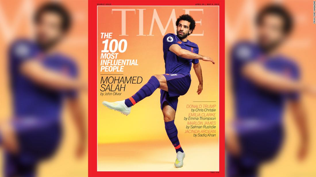 Mohamed Salah stars on cover of TIME 100; Tiger Woods, Naomi Osaka and LeBron James also on list