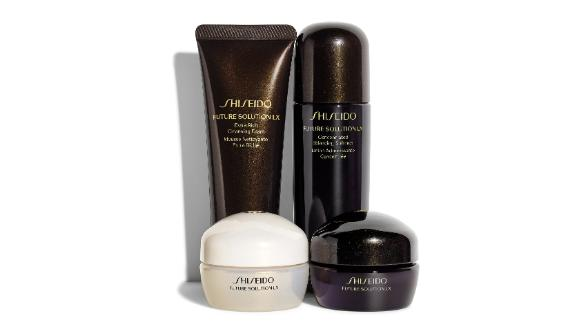 """<strong>SHISEIDO Future Solution LX Travel Collection ($101.50, originally $145; </strong><a href=""""https://click.linksynergy.com/deeplink?id=Fr/49/7rhGg&mid=1237&u1=0416nordspringsale&murl=https%3A%2F%2Fshop.nordstrom.com%2Fs%2Fshiseido-future-solution-lx-travel-collection-232-value%2F5064305%3Forigin%3Dcategory-personalizedsort%26breadcrumb%3DHome%252FSale%252FWomen%252FBeauty%2520%2526%2520Fragrance%26color%3Dnone"""" target=""""_blank"""" target=""""_blank""""><strong>nordstrom.com</strong></a><strong>) </strong>"""
