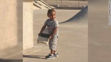 Jaon Ceon in a skateboard, now as a kid.