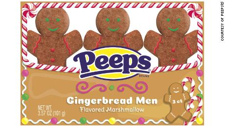 Peeps' gingerbread-flavored marshmallow men.