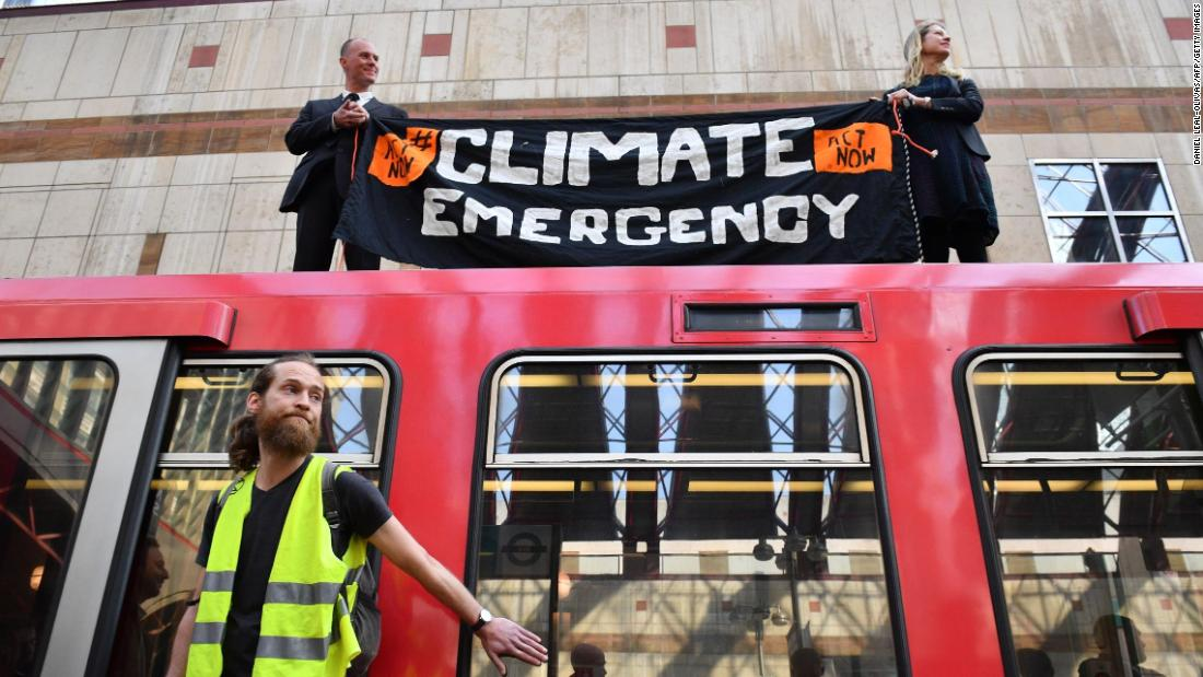 Activists halt London trains during third day of climate protests