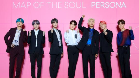 BTS at a press conference in Seoul, South Korea, on April 17, 2019.