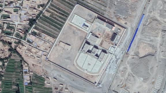 Another alleged detention center outside the town of Turpan, which CNN also found to be inaccessible.