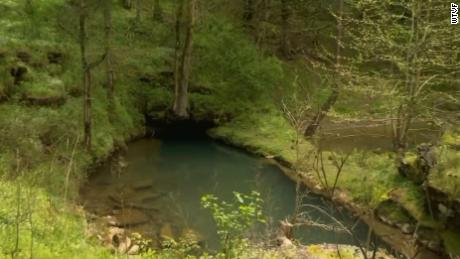 This is the area around the cave in Tennessee.