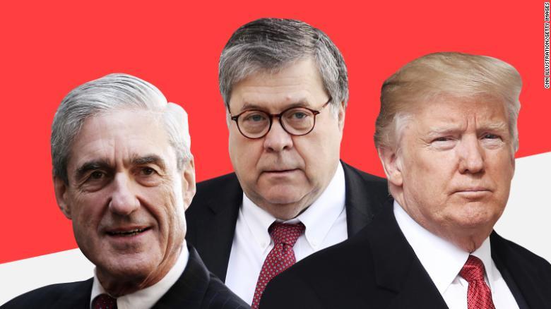 Image result for images of Mueller vs Barr