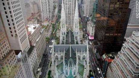 St. The Cathedral of Patrick can be seen in this file photo from above in New York.