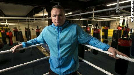 Bradley Welsh in his gym in Edinburgh.