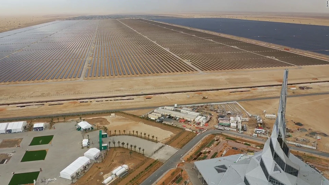 In the desert outside Dubai, a giant solar park is rising. Plans are in place to erect solar panels and concentrated solar power arrays with a cumulative capacity of 5,000 megawatts -- what would be the largest single-site solar park in the world.<br /><br /><strong><em>For more on solar megaprojects around the world, scroll through the gallery...</em></strong>