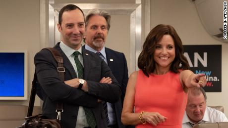 Tony Hale, Gary Cole and Julia Louis-Dreyfus in 'Veep'