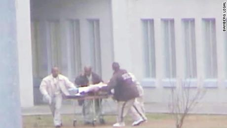 Inmate who was stabbed was left to die in prison yard by