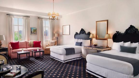 """<strong>6. </strong><a href=""""http://www.anrdoezrs.net/links/8314883/type/dlg/sid/0418besthotels/https://www.tripadvisor.com/Hotel_Review-g54171-d225044-Reviews-French_Quarter_Inn-Charleston_South_Carolina.html"""" target=""""_blank"""" target=""""_blank""""><strong>French Quarter Inn (Charleston, South Carolina)</strong></a><br /><em>One </em><a href=""""http://www.anrdoezrs.net/links/8314883/type/dlg/sid/0418besthotels/https://www.tripadvisor.com/"""" target=""""_blank"""" target=""""_blank""""><em>TripAdvisor </em></a><em>reviewer said:</em> """"The location is perfect, the rooms immaculate, the wine and cheese, cookies, and other surprises were awesome. We even took advantage of the pillow menu!"""""""