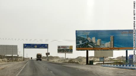 The buses were en route from Pakistan's largest city Karachi to the port city of Gwadar (pictured).