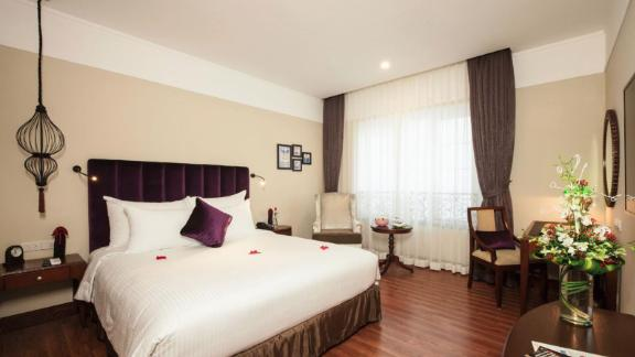 """<strong>10. </strong><a href=""""http://www.anrdoezrs.net/links/8314883/type/dlg/sid/0418besthotels/https://www.tripadvisor.com/Hotel_Review-g293924-d7180030-Reviews-Hanoi_La_Siesta_Hotel_Spa-Hanoi.html"""" target=""""_blank"""" target=""""_blank""""><strong>Hanoi La Siesta Hotel & Spa (Hanoi, Vietnam) </strong></a><br /><em>One </em><a href=""""http://www.anrdoezrs.net/links/8314883/type/dlg/sid/0418besthotels/https://www.tripadvisor.com/"""" target=""""_blank"""" target=""""_blank""""><em>TripAdvisor </em></a><em>reviewer said: </em>""""We were totally impressed with the service, the room and the food. We would give it 10 stars if TripAdvisor had that many."""""""