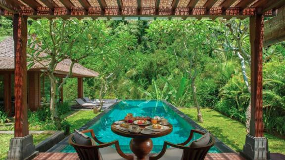 """<strong>17. </strong><a href=""""http://www.anrdoezrs.net/links/8314883/type/dlg/sid/0418besthotels/https://www.tripadvisor.com/Hotel_Review-g297701-d8293999-Reviews-Mandapa_a_Ritz_Carlton_Reserve-Ubud_Gianyar_Regency_Bali.html"""" target=""""_blank"""" target=""""_blank""""><strong>Mandapa, a Ritz-Carlton Reserve (Ubud, Indonesia) </strong></a><br /><em>A </em><a href=""""http://www.anrdoezrs.net/links/8314883/type/dlg/sid/0418besthotels/https://www.tripadvisor.com/"""" target=""""_blank"""" target=""""_blank""""><em>TripAdvisor </em></a><em>reviewer said:</em> """"Amazing. Everything we could have ever hoped for was taken care of even before we thought of it."""""""