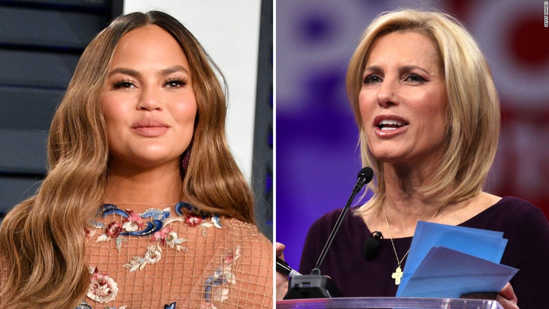 Chrissy Teigen fires back at Laura Ingraham after criticism over Time's 100 list