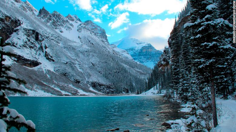 Rescue teams searched the Banff National Park in Alberta, Canada, on Wednesday.