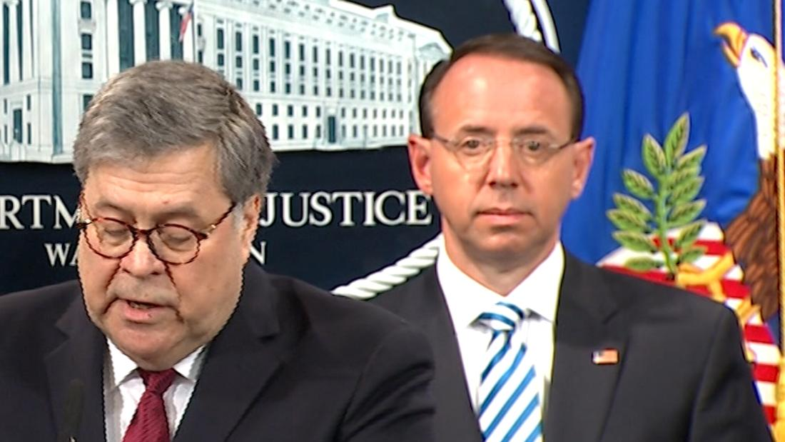 Internet mocks Rod Rosenstein's 'hostage stare'