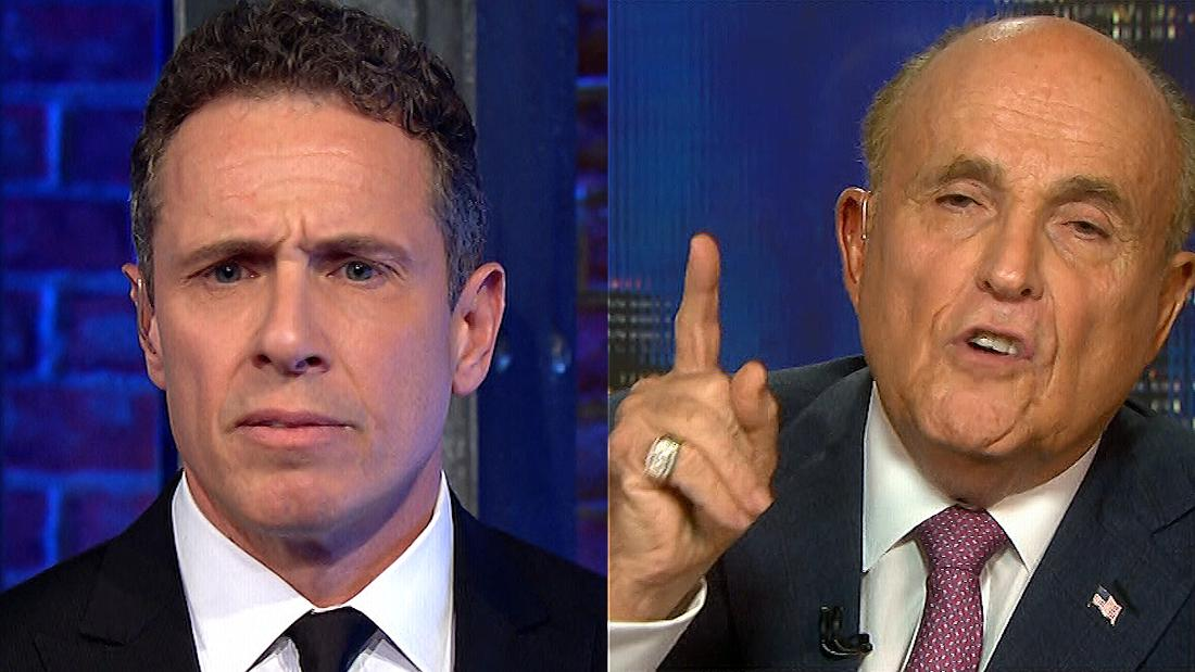 Giuliani snaps at Cuomo: Stop using the word 'lie'
