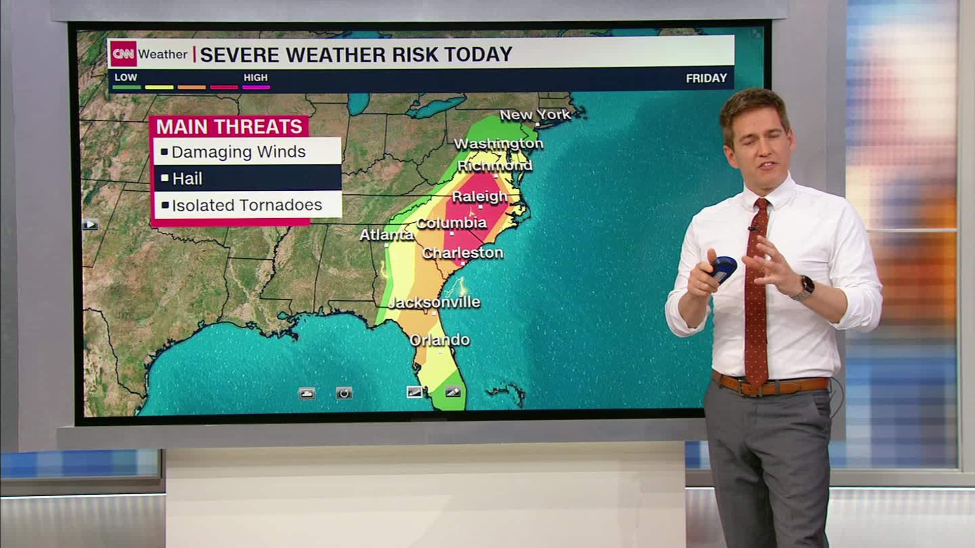 weather map of east coast Severe Weather Along East Coast Friday Cnn Video weather map of east coast