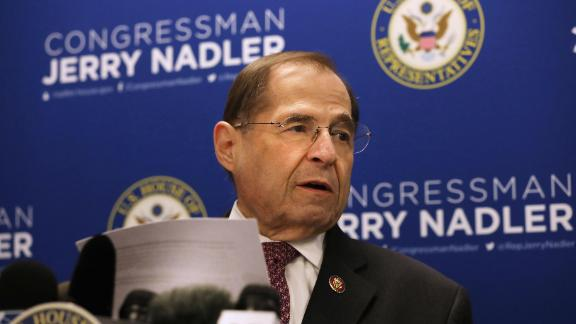 House Judiciary Committee Chairman Jerrold Nadler (D-NY) holds a news conference on April 18, 2019 in New York City.(Spencer Platt/Getty Images)