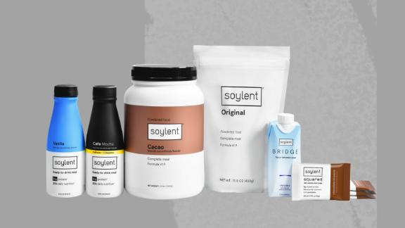 The full slate of Soylent products.