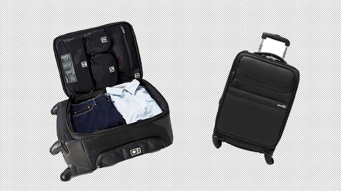 Save space when you travel carry-on only with this genius piece of luggage