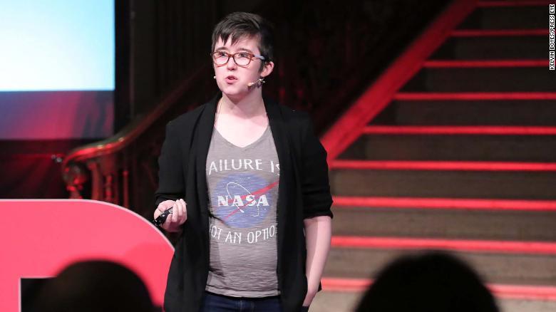 McKee talks at the TEDxStormont Women event in 2017.